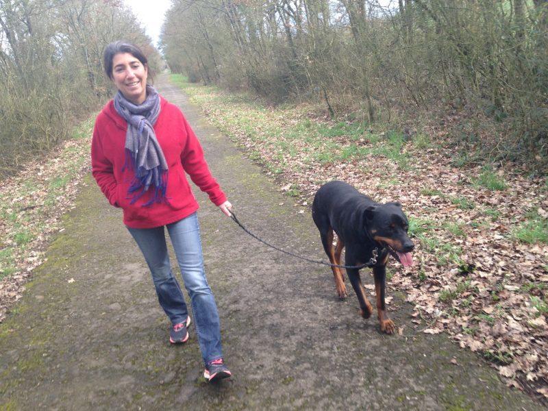 edukachien, aurélie frerou, education canine et comportementalisme canin a domicile, dvpt perso balade sereine avec son chien
